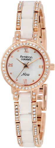 ARMITRON WOMENS WHITE BRACELET WATCH 24.34MM