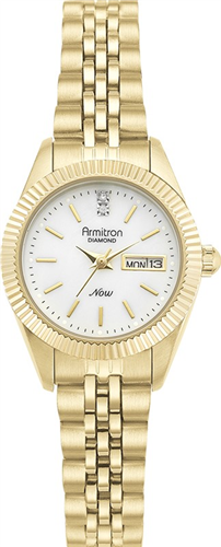ARMITRON WOMENS DIAMOND GOLD WATCH, 25MM