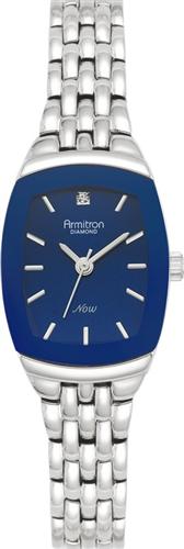 ARMITRON WOMENS DIAMOND BLUE - SILVER WATCH, 21MM