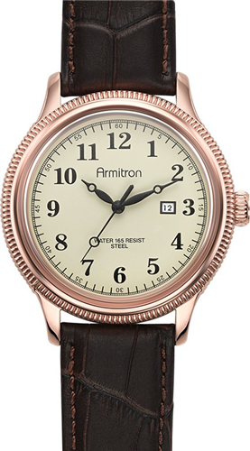 ARMITRON MENS ROSE-GOLD WATCH, 45MM
