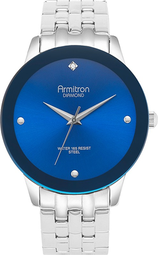 ARMITRON MENS BLUE- DIAMOND WATCH, 42MM