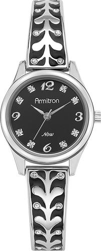 ARMITRON WOMENS SWAROVSKI SILVER WATCH, 26MM