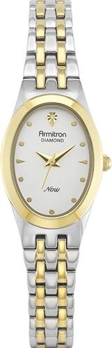 ARMITRON WOMENS DIAMOND TWO-TONE WATCH, 21MM