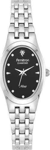 ARMITRON WOMENS DIAMOND SILVER WATCH, 21MM