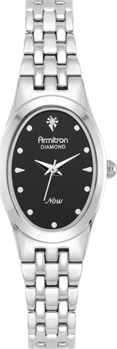ARMITRON WOMENS DIAMOND SILVER WATCH, 21MM