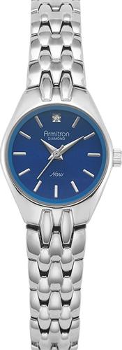 ARMITRON WOMENS DIAMOND BLUE- SILVER WATCH, 22MM