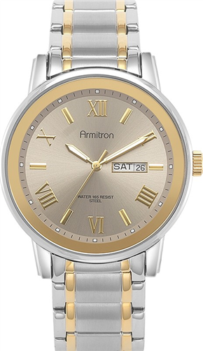 ARMITRON MENS TWO-TONE WATCH, 41MM