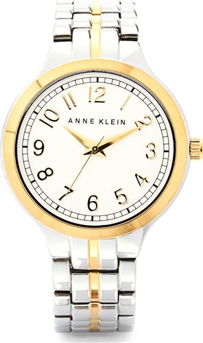 ANNE KLEIN WOMENS TWO-TONE WATCH 36MM