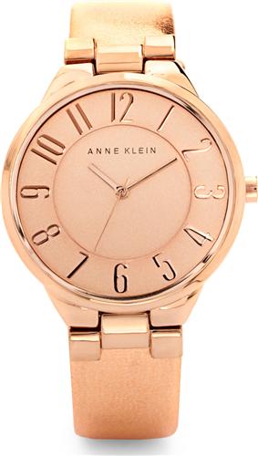 ANNE KLEIN WOMENS ROSE GOLD METALLIC WATCH, 34MM