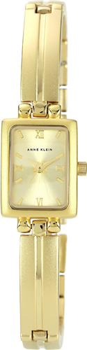 ANNE KLEIN WOMENS GOLD-TONE ADJUSTABLE WATCH 20X16MM