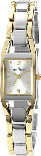 ANNE KLEIN WATCH, WOMENS TWO TONE BRACELET 17MM