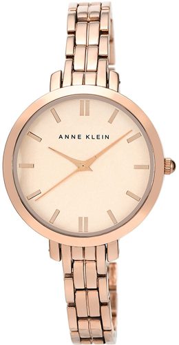 ANNE KLEIN WATCH, WOMENS ROSE GOLD BRACELET 33MM
