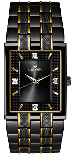 BULOVA MENS DIAMOND WATCH 30MM