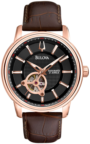 BULOVA MENS AUTOMATIC SERIES 160 MECHANICAL WATCH 45MM