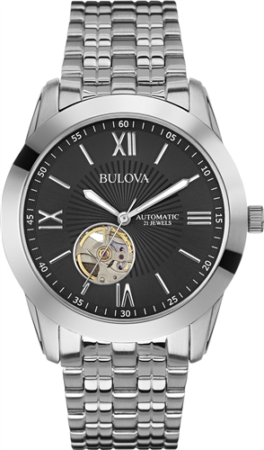 BULOVA AUTOMATIC STAINLESS MENS WATCH 42MM