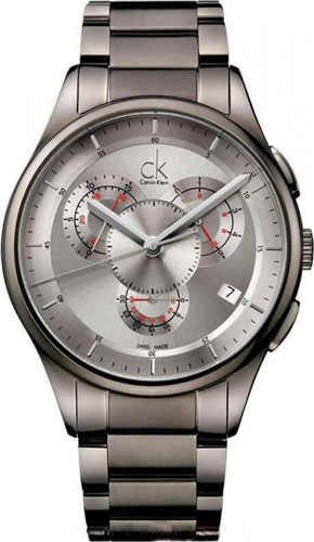 CALVIN KLEIN BASIC SWISS GREY MENS WATCH 43MM