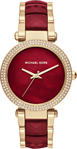 MICHAEL KORS PARKER GOLD-TONE AND ACETATE WOMENS WATCH 39MM