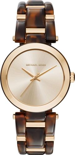 MICHAEL KORS Delray Tortoise Acetate Watch 36mm