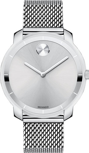 MOVADO BOLD SILVER DIAL LADIES WATCH 36MM