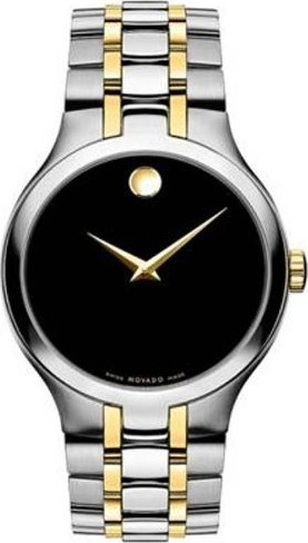 MOVADO MENS COLLECTION SWISS MOVEMENT WATCH 38MM