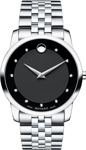 MOVADO MUSEUM DIAMOND MENS WATCH 40MM