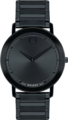 MOVADO SAPPHIRE UNISEX SWISS BLACK PVD WATCH 40MM