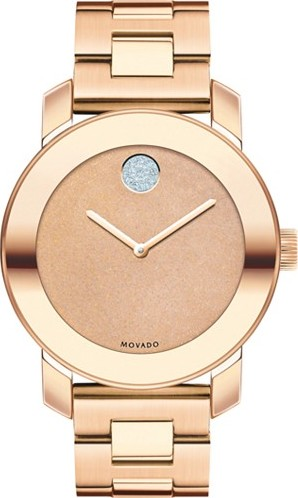 MOVADO WOMENS SWISS BOLD ROSE GOLD WATCH 36MM