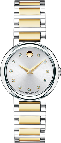 MOVADO WOMENS SWISS CONCERTO DIAMOND WATCH 27MM