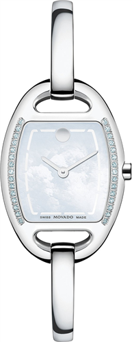 MOVADO WOMENS SWISS MIRI DIAMOND WATCH 24MM
