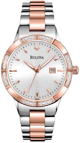 BULOVA WOMENS DIAMOND WATCH 32MM