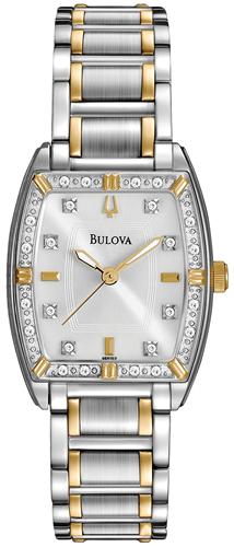 BULOVA WOMENS DIAMOND WATCH 24MM