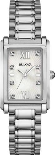 BULOVA WOMENS DIAMOND ACCENT WATCH 35X23MM