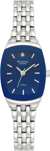ARMITRON WOMENS DIAMOND BLUE - SILVER WATCH, 21MM