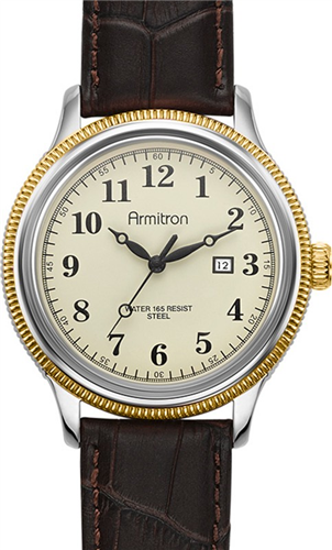 ARMITRON MENS TWO-TONE WATCH, 45MM