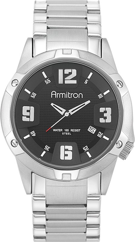 ARMITRON MENS STAINLESS-STEEL WATCH 52MM