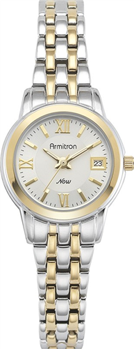 ARMITRON WOMENS TWO-TONE WATCH, 25MM