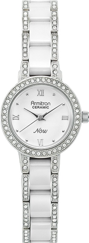 ARMITRON WOMENS SWAROVSKI -CERAMIC WATCH, 24MM