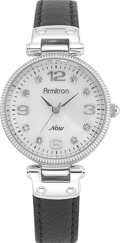 ARMITRON WOMENS SILVER SWING WATCH, 28.5MM