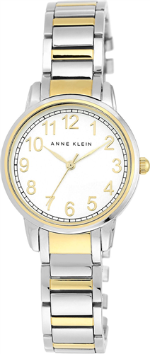 ANNE KLEIN WOMENS TWO-TONE EXPANSION WATCH 32MM