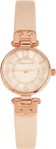 ANNE KLEIN WOMENS ROSE GOLD-TONE WATCH 26MM