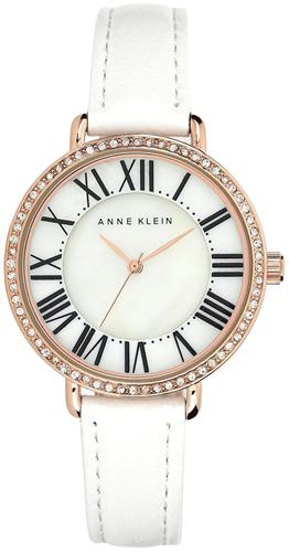 ANNE KLEIN WOMENS LEATHER STRAP WATCH 36MM