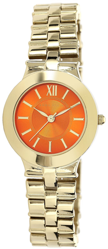 ANNE KLEIN WOMENS GOLD BRACELET WATCH 28MM