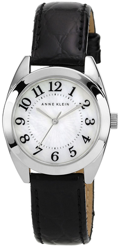 ANNE KLEIN WOMENS BLACK LEATHER STRAP 32MM