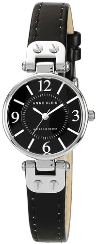ANNE KLEIN WOMENS BLACK LEATHER STRAP 26MM