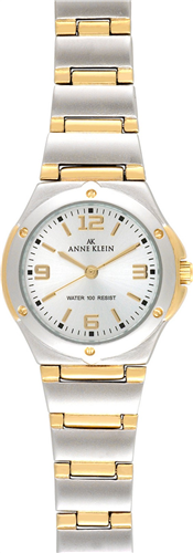 ANNE KLEIN WATCH, WOMENS TWO TONE BRACELET 28MM
