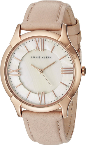 ANNE KLEIN WATCH WOMENS LEATHER STRAP 36MM