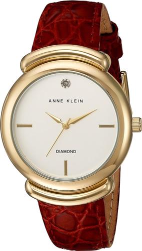 ANNE KLEIN DIAMOND RED CROCO WATCH 36MM