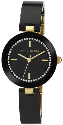 ANNE KLEIN BLACK CERAMIC BRACELET WATCH 31MM