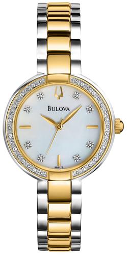 BULOVA WOMENS 24 DIAMONDS WATCH 29MM