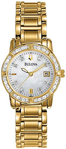 BULOVA HIGHBRIDGE DIAMOND GOLD WOMENS WATCH 26MM